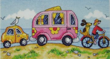 Are We There Yet?  Cross Stitch Kit by  Karen Carter